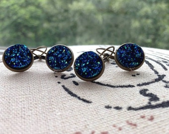 Faux druzy earrings