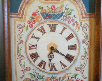 Vintage Hand Embroidered Clocks**Electric**