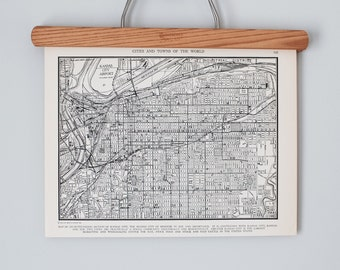 Kansas City 1930s Map | Antique K.C., Missouri City Map