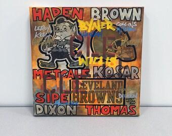 BROWNS GRAFF 02 Painting 17 x 17 by Garrett Weider