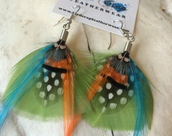 Southwestern Flair Small Feather Earrings
