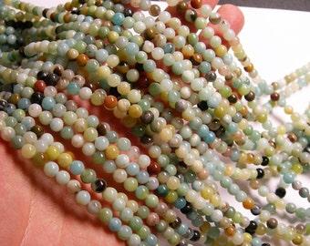 Amazonite - 6 mm round beads -1 full strand - 68 beads - RFG164