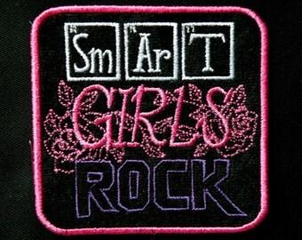 "Smart Girls Rock Iron on Patch 4"""