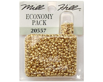 Gold Seed Beads 11/0 Mill Hill Economy Pack 20557