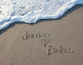 DOWNLOAD & PRINT Message in the Sand Jersey Shore Gifts Custom Beach Writing Custom