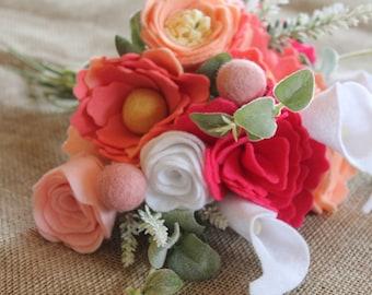 Handmade Felt Flower Bouquet