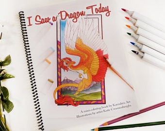 Adult Coloring Book | Dragons | Fantasy | Meditation and Relaxation | Unwind | Stress Relief | One Sided Pages Heavy Paper | Quality