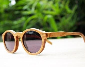 TAKEMOTO  olive wood  THANKS handmade prescription sunglasses eyeglasses