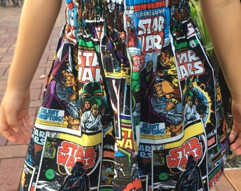 Star Wars Ruffle Waisted  Baby Toddler Girls Skirt MADE TO ORDER 12 Month 2T 3T 4T 5T