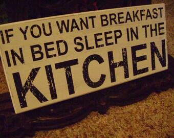 Advertising Sign Kitchen