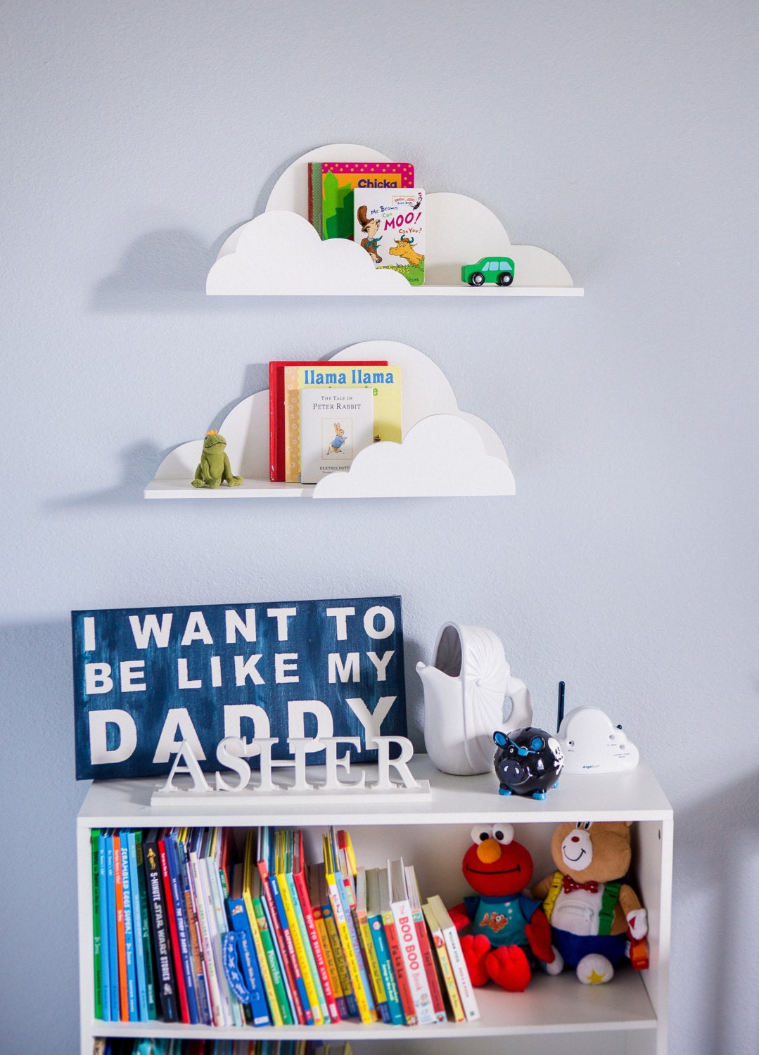 Cloud Shelf For Kids Room Baby Nursery Wall Decor By Zcreatedesign