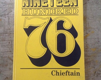 Vintage 1976 Junior High Yearbook Chieftan Bellflower California