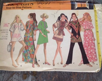 Vintage McCall's Sewing Pattern 9697 Misses' Size Medium 12-14 Dress