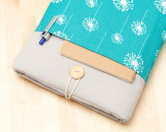 "Macbook 15 sleeve, 15 inch Macbook case, 15"" macbook pro retina cover, macbook 15 sleeve - Blue dandelion"