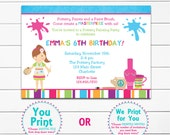 Pottery Painting Party Invitation Pottery Party Painting Party Invitation