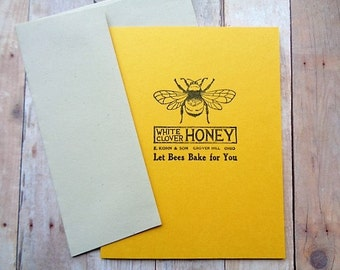 Honey Bee Cards Bees Blank Note Card Set Summer Garden