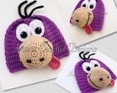 Dino Flintstone Handmade Crochet Hat Beanie