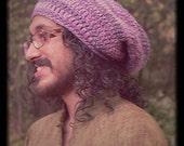 Dread Hat Rasta Tam Oversized Woolly, Purple Passion Warm Unisex, Vegan