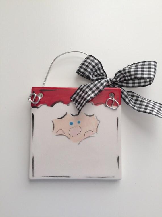 Santa Claus ornament, Personalized Christmas ornament, Hand painted Christmas ornament, For Pete's Sake Ornament