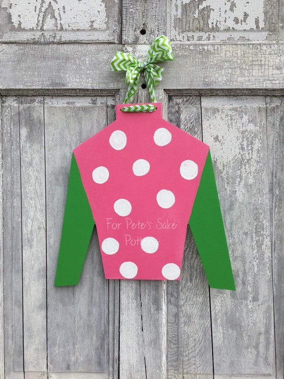 Derby, horse racing, horse farm, Jockey silk, door hanger, wall hanger and Derby party sign