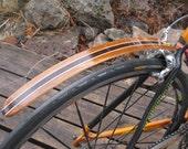 Woody's Chop Chort Rear Jatoba, Maple, Wenge bike fender.  Bicycle fender.