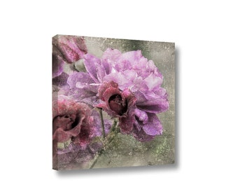 Small Canvas Wall Art Decor Dusty Pink Rose