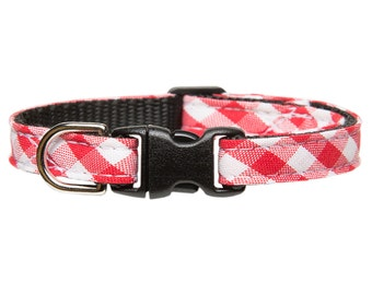 "Cat Collar - ""The Head Chef""- Red Plaid"