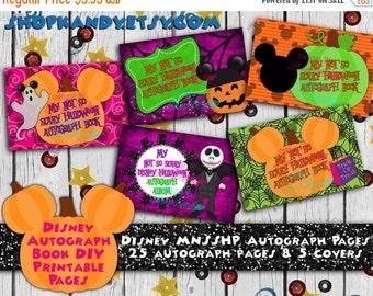 Disney Autograph Book - MNSSHP Autograph Album - Disneyland Vacation - Walt Disney World - Disney Vacation - Halloween Autograph Book