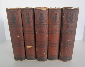 Nicholas Nickleby by Charles Dickens Carleton's Illustrated Edition 1880 Classic Antique Books