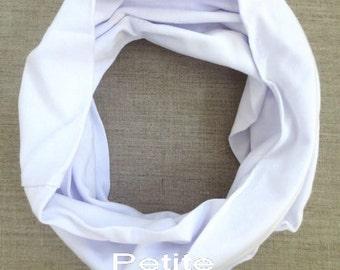 White Baby scarf, baby boy scarf,baby girl scarf,children scarf - Solid White