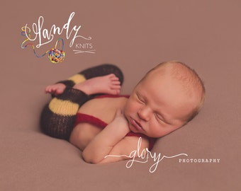 Newborn photo prop. Newborn mohair Firefighter pants