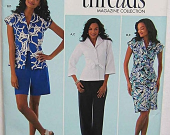 Misses' Jacket, Skirt, Pants, Shorts, Simplicity 2370 Sewing Pattern UNCUT Sizes 16-24, Threads Magazine