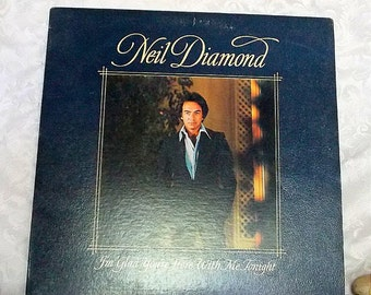 Neil Diamond, I'm Glad You're Here With Me Tonight, Vintage Vinyl Record, 1977, Music Memorabilia, Columbia Records JC 34990