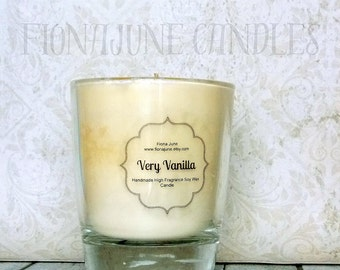 Very Vanilla Soy Wax Jar Candle, Vanilla Candle, Vegan Soy Candle, Small Glass Tumbler Candle