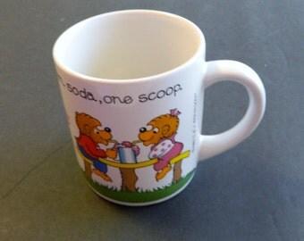 The Berenstain Bears Princess House Coffee Cups / Mugs Vintage 1987 Ceramic