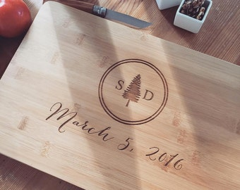 Personalized Cutting Board, Engraved Cutting Board, Custom Cutting Board, Wedding Gift, Housewarming Gift, Anniversary Gift, Gift for Couple