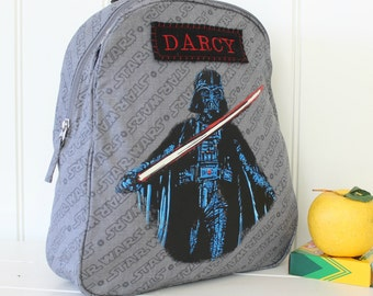 Darth Vader Cape Backpack With Monogram Pottery Barn (Preschool Size)