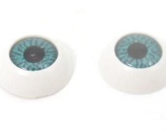 5 pairs Blue round plastic doll eyes DIY, glue on , 22mm - last pack