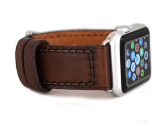 Italian Calf BROWN Leather Apple Watch Strap band