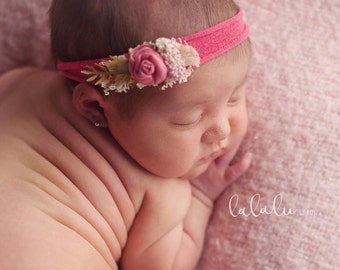 Pink Bud Stretch  Headband
