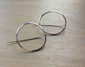 Large Anti-Hoop Earrings