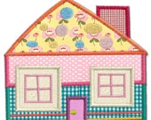 Cottage House 1 Applique Machine Embroidery Design Pattern-INSTANT DOWNLOAD