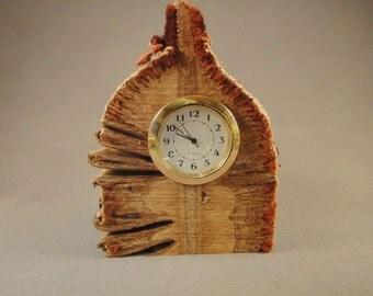 Desk Clock - Mini Quartz Movement - Banksia Pod Wood - 3 choices of inserts