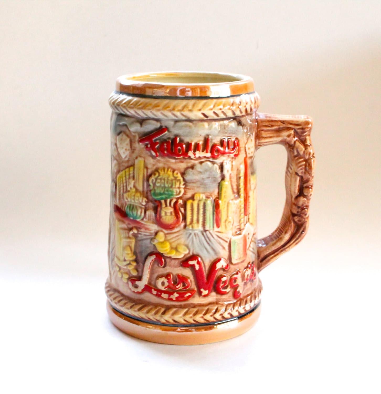 Vintage 1970 39 S Las Vegas Souvenir Beer Mug Stein Cool