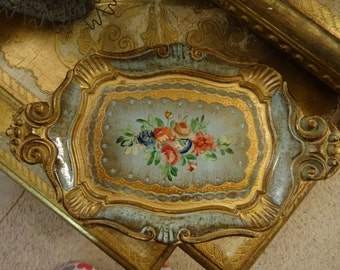 Vintage Shabby Florentine Petite Wooden Tray Chic