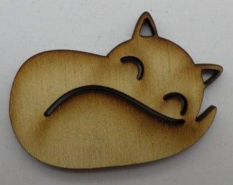 Wood Brooch -Fox - BRO070