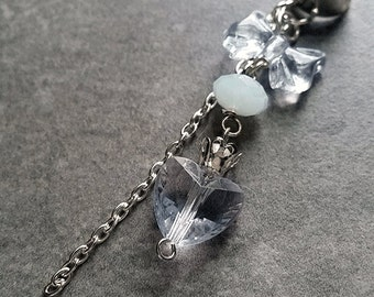 Princess (in blue) - SINGLE Ear Cuff silver plated / no piercing required