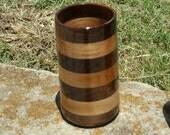 Handcrafted Walnut and HIckory Wood Tumbler 12 oz Beer Mug, Stein, Tankard, Drinking Vessel, Wooden Beer Mug, Beer Stein