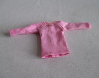 Handmade outfit for Blythe doll long sleeve Sweater Tee shirt Pink SW-15