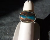 Peruvian Opal Ring in Sterling Silver, READY TO SHIP Size 5.5